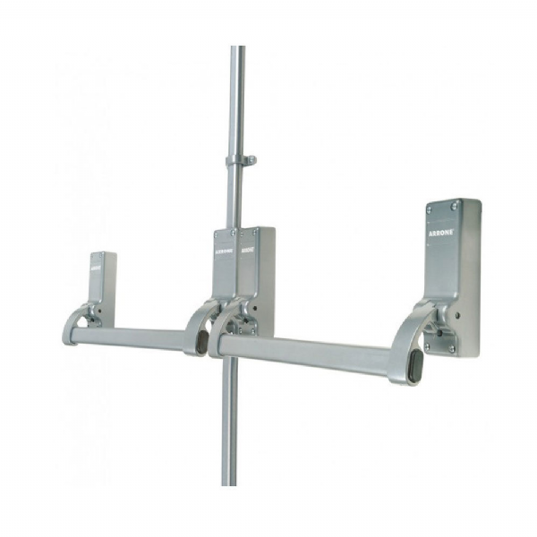 Arrone® Rebated Double Door Panic Bar Set - Silver - AR888
